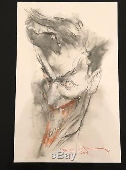 The joker (Batman antagonist) Bill Sienkiewicz sketch very big size