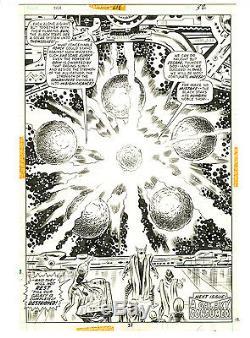 Thor #218 pg 32 Original Comic Art BEAUTIFUL FULL SPLASH Marvel John Buscema