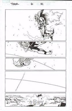 Thor #6 Olivier Coipel Original Art Page 21 Marvel Comic Artwork Straczynski Run