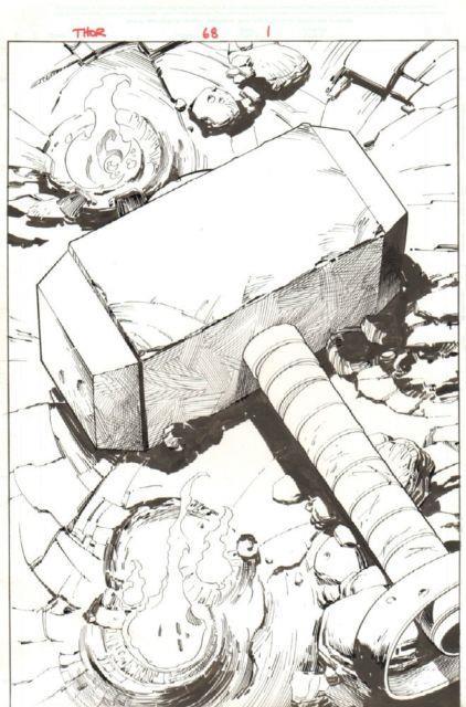 Thor #68 (570) P. 1 Mjolnir Hammer Splash 2003 Art By Scott Eaton