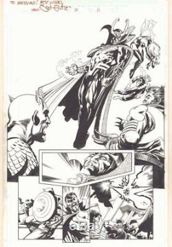 Thor #73 (575) p. 11 Loki vs. Avengers & Wolverine Splash 2004 by Scott Eaton