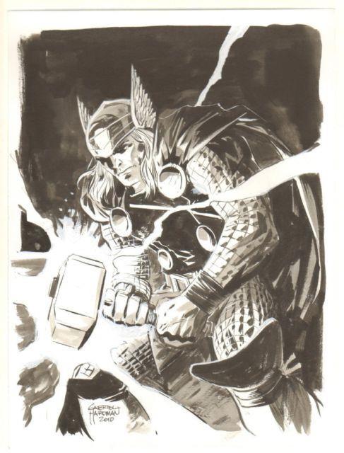 Thor Commission 2010 Signed Art By Gabriel Hardman