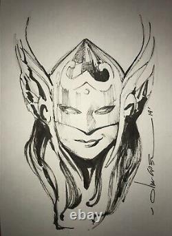 Thor Jane Foster Original Art Sketch By Olivier Coipel