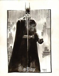 Tim Sale Batman In The Rain Original Art Commission