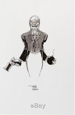 Tim Sale Joker Sketch Original Art Commission DC Comics Batman