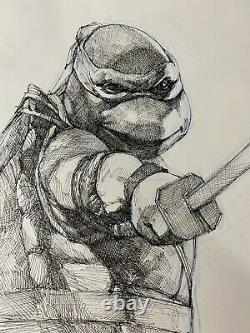 Tmnt Ninja Turtles Movie Leonardo Original Comic Art Pinup Paul Harmon