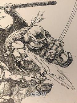 Tmnt Ninja Turtles Original Art Comic Paul Harmon