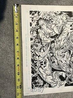 Todd McFarlane Original Comic Art Spider-Man #9 Page 22 Drawing of Wolverine