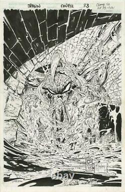 Todd McFarlane Original Comic Cover Art SPAWN #33