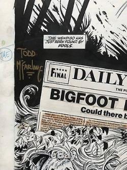 Todd McFarlane Spider-Man #9 pg 22 Original Comic Art Wolverine Twice Up
