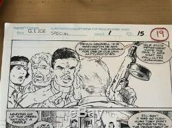 Todd McFarlane original art GI Joe Special 1 pg 19 not spiderman spawn