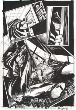 Tom Mandrake Signed Batman Splash Original Art-2010! Free Shipping