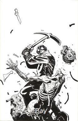 Tonci Zonjic Original Art Lobster Johnson Garden of Bones #1 Cover ACLU Mignola