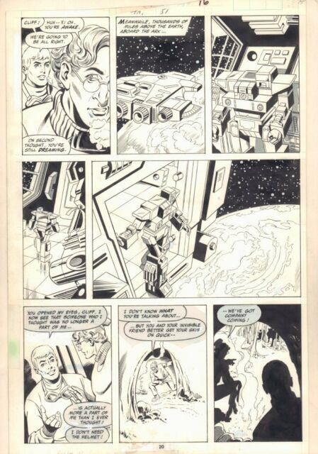 Transformers #51 P. 20 Cliff And The Ark 1989 Art By Jose Delbo