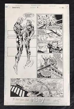 Travis Charest Original Comic Book Art Darkstars Issue #4 (1/1993) Page 11