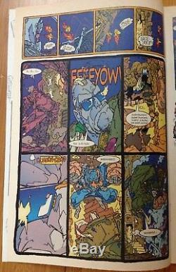 Trencher #1 p. 10 Alternate Version''EEEEYOW'' 1993 art by Keith Giffen