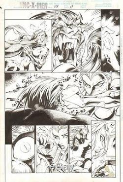 UNCANNY X-MEN # 328 Pg. 19 by JOE MADUREIRA! PSYLOCKE VS. SABRETOOTH