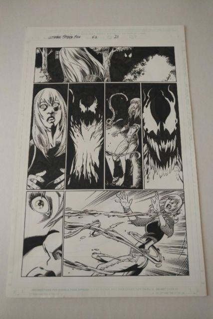 Ultimate Spiderman Original Comic Art Issue 62 Pg 21 Mark Bagley Carnage