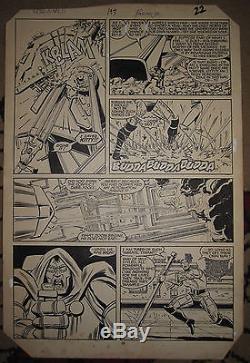Uncanny X-MEN #197 pg 17 Original Art Colossus DOCTOR DOOM John ROMITA JR 1985
