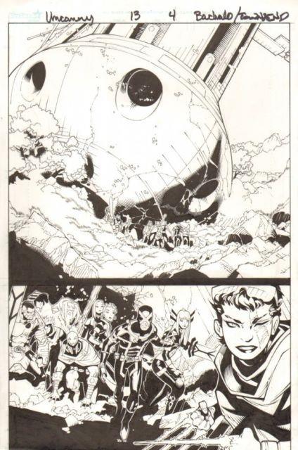 Uncanny X-men #13 P. 4 Cyclops, Future Jubilee, Magneto 2013 By Chris Bachalo