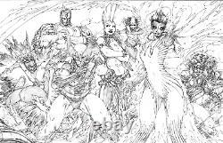 Uncanny X-Men by Brett Booth Original Art Pencil Drawing Illustration Wolverine