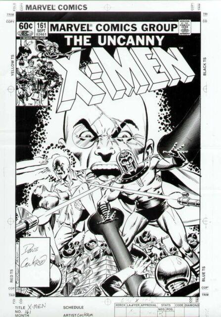 Uncanny X-men #161 Original Cover Proof Production Art Dave Cockrum Magneto Prof