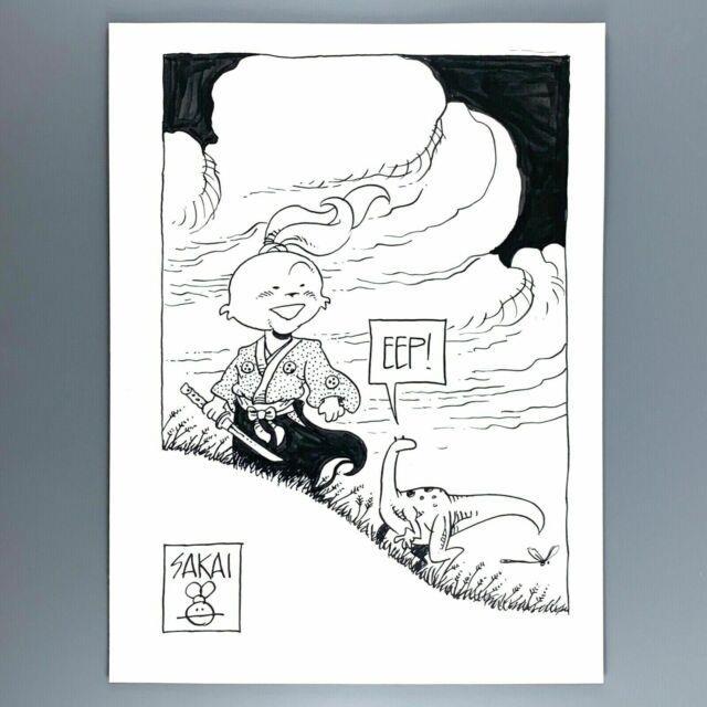 Usagi Yojimbo Chibi With Spot 9x12 Stan Sakai Original Art Commission Sketch