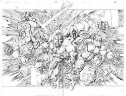VALIANT X-O MANOWAR #37 Pages 6 & 7 Original Published Art Diego Bernard Splash