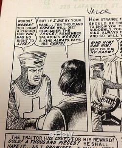 VALOR 3 Page 29 Original Comic Book Art REED CRANDALL Debt of Honor Crusades EC