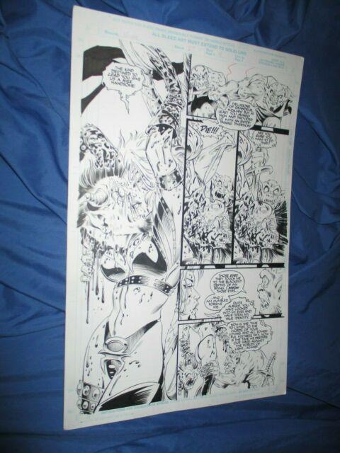 Vampirella #25 Original Art Page #4 Amanda Conner/jimmy Palmiotti 1/2 Splash