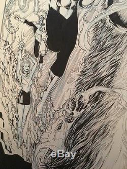 VAN SCIVER GREEN LANTERN VS. PLANET OF THE APES #1 Original COVER ART