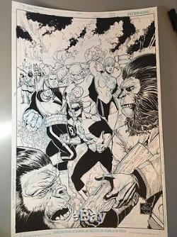 VAN SCIVER GREEN LANTERN VS. PLANET OF THE APES #2 Original COVER ART