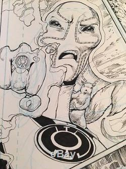 VAN SCIVER HAL JORDAN GREEN LANTERN #15 Big ACTION SHOT Original Art