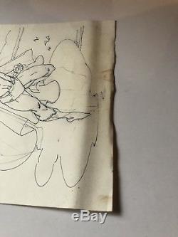 VINTAGE ORIGINAL JIM LEE SUPERMAN SKETCH DATED 12-26-89 WOW 8x10 COMIC BOOK ART