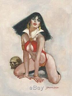Vampirella Original Oil painting- Sanjulian hand signed