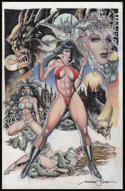 Vampirella Painted Art By Gonzalo Mayo