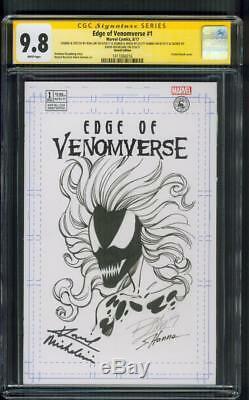 Venom 1 CGC 9.8 3X SS Original art Scream Sketch Scott Hanna Ron Lim Hardy Movie