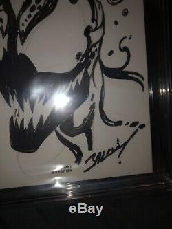 Venom #1 (Marvel, 2017) Original Art Sketch By Mark Bagley Venom CGC 9.8
