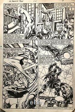 Vintage JOHN BYRNE Fantastic Four original art page, 247 page 8, Marvel, 1982