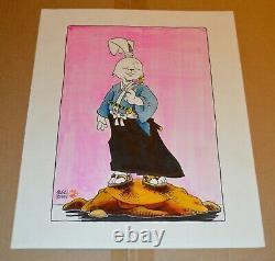 Vintage Original 1987 Art Stan Sakai Usagi Yojimbo Watercolor 14x11 Very Rare