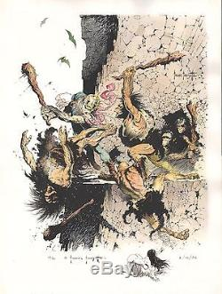 WEIRD SCIENCE FANTASY # 29 hand colored, signed and sketched by Frank FRAZETTA