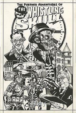 WHISTLING SKULL PROMOTIONAL ORIGINAL COMIC ART Horror Sci-fi cgc gga pulp