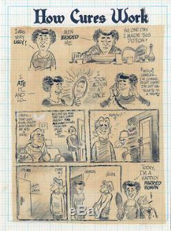 WILL EISNER How Cures Work 1-Pager ORIGINAL COMIC ART