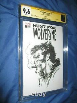 WOLVERINE #1 CGC 9.6 SS Original Art Sketch by Neal Adams (UNCANNY X-MEN)
