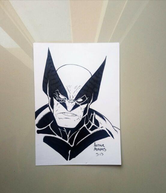 Wolverine Original Sketch By Arthur Adams Original Art 2013 Collectors Art