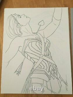 WONDER WOMAN #70 Original Comic Cover Art By Jenny Frison 2 Piece Set