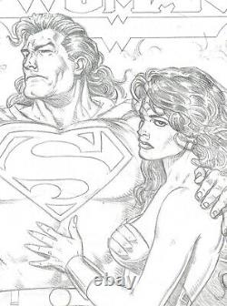 WONDER WOMAN #88 COVER PRELIM by BRIAN BOLLAND with SUPERMAN