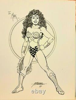 WONDER WOMAN commission sketch 1997 GEORGE PEREZ