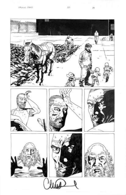 Walking Dead #20 Image 2005 (original Art) Pg 14 Charlie Adlard Zombies