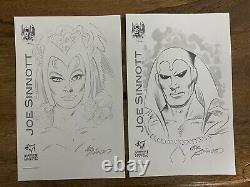 Wanda, Vision Original Art by Joe Sinnott 2 separate drawings